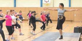 Sportliche Aktivitäten der Gymnastinnen